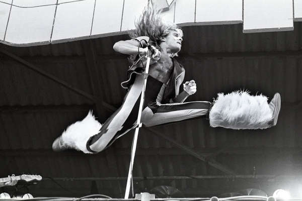 david lee roth jumps through the air...